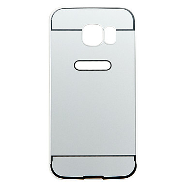 prata pc à prova de choque e anti-arrancando volta caso capa para Samsung Galaxy S6
