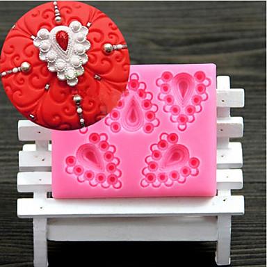 diamantes em forma de coração bolo de chocolate fundido moldes de silicone, ferramentas de decoração bakeware