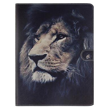 leão padrão de couro pu caso de corpo inteiro com slot para suporte e cartão para ipad 2/3/4