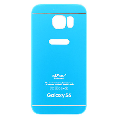 armor roze en blauwe metalen + TPU Cover Case voor Samsung Galaxy S6 / S6 rand