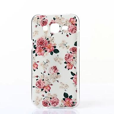 Capinha Para Samsung Galaxy Samsung Galaxy Capinhas Estampada Capa Traseira Flor TPU para J5