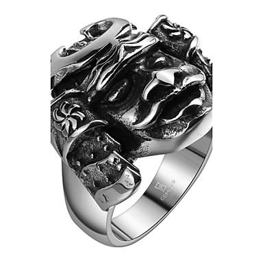 Ανδρικά Δαχτυλίδι Cubic Zirconia Ανοξείδωτο Ατσάλι Ζιρκονίτης Τιτάνιο Ατσάλι Επάργυρο Κοσμήματα Καθημερινά Causal Αθλητικά