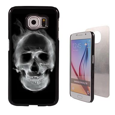 Para Samsung Galaxy Capinhas Case Tampa Estampada Capa Traseira Capinha Caveira PC para Samsung S6