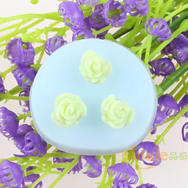 fondant de chocolate moldes de silicone em forma de bolo de flores, ferramentas de decoração bakeware