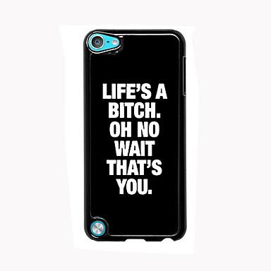 a vida é um projeto do caso de alumínio de alta qualidade praia para ipod touch 5