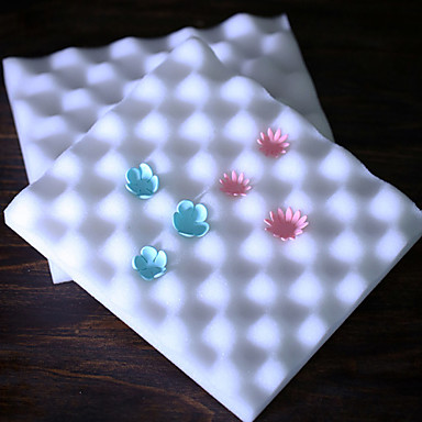 golfvormige taart decoreren foam pad sugarcraft modelleren pad bloem matrijs set van 2