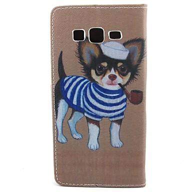 Para Samsung Galaxy Capinhas Carteira / Porta-Cartão / Com Suporte / Flip Capinha Corpo Inteiro Capinha Cachorro Couro PU SamsungCore