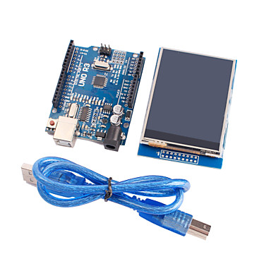 verbeterde versie uno r3 ATmega328P board module + 2,8 inch TFT LCD touch scherm display module voor Arduino
