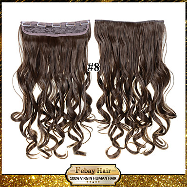 Synthetisch haar Haarextensies Golvend Klassiek Clip-in Dagelijks Hoge kwaliteit