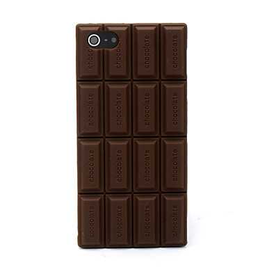 Capa macia da tampa do silicone do chocolate 3d com capas de iphone 5c do iphone