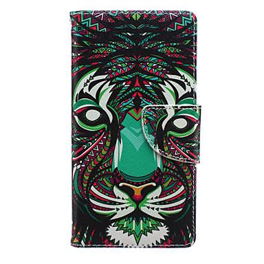 Capinha Para Huawei Huawei P8 Lite P8 Lite Capinha Huawei Porta-Cartão Carteira Com Suporte Flip Capa Proteção Completa Animal Rígida PU