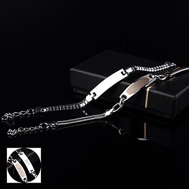 Jóias Personalizadas - Amantes - prata - Braceletes - de Aço Inoxidável