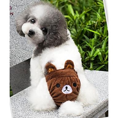 Γάτα Σκύλος Στολές Σύνολα Παντελόνια Ρούχα για σκύλους Κινούμενα σχέδια Κίτρινο Καφέ Ροζ Βαμβάκι Στολές Για κατοικίδια Στολές Ηρώων Γάμος