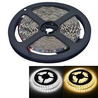 YouOkLight 5 M 300 3528 SMD Warm Wit / Wit Knipbaar / Geschikt voor voertuigen / Zelfklevend 25 W Flexibele LED-verlichtingsstrips DC12 V