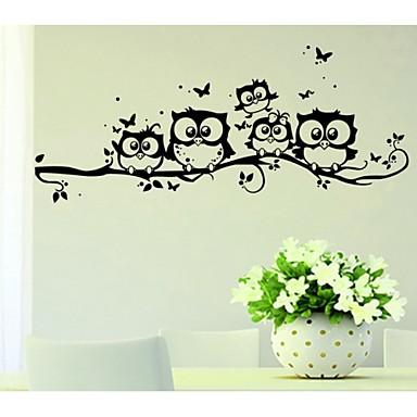 Животные Наклейки Простые наклейки Декоративные наклейки на стены, Винил Украшение дома Наклейка на стену Стена