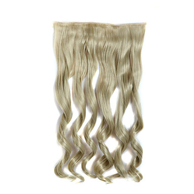 24 inch lang krullend 5 clips in hair extensions hittebestendige synthetische