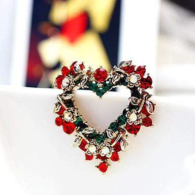 coração broche coroa de natal