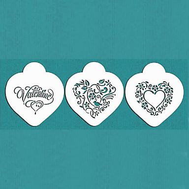 δώρο του Αγίου Βαλεντίνου να μου την καρδιά μπισκότων που στένσιλ για τη διακόσμηση κέικ, ST-670