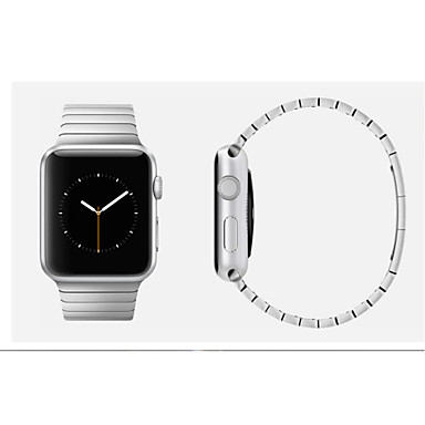 Horlogeband voor Apple Watch Series 3 / 2 / 1 Apple Butterfly Buckle Roestvrij staal Polsband