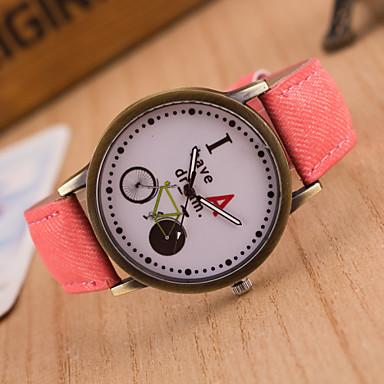 Erkek Spor Saat Elbise Saat Moda Saat Bilek Saati Quartz Büyük Kadran Kumaş Bant İhtişam Çok-Renkli