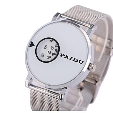 Homens Único Criativo relógio Relógio de Moda Quartzo Aço Inoxidável Banda Prata