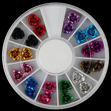 24pcs - 6x6x0.8 - Αφηρημένο / Lovely - Κοσμήματα Νυχιών / Σετ διακόσμησης / Άλλα Διακοσμητικά - για Δάχτυλο / Δάκτυλο Ποδιού - από Άλλα