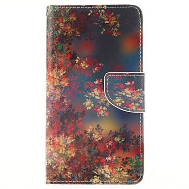 tok Για Samsung Galaxy Samsung Galaxy Note Πορτοφόλι / Θήκη καρτών / με βάση στήριξης Πλήρης Θήκη Λουλούδι PU δέρμα για Note 4