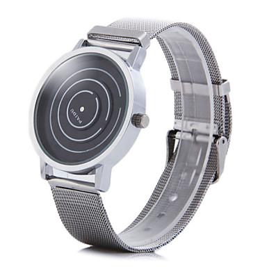Ανδρικά Ρολόι Καρπού Μοναδικό Creative ρολόι Χαλαζίας Ανοξείδωτο Ατσάλι Μπάντα Ασημί