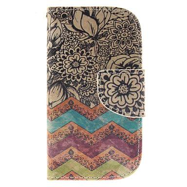 Capinha Para Samsung Galaxy Samsung Galaxy Capinhas Porta-Cartão Carteira Com Suporte Flip Capa Proteção Completa Linhas / Ondas PU