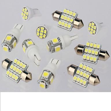11pcs witte LED verlichting interieur pakket voor t10& 31mm kaart koepel + kenteken