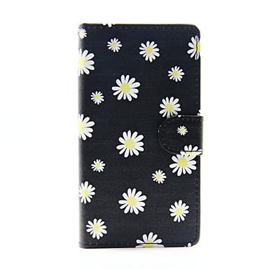 Για Samsung Galaxy Θήκη Θήκη καρτών / Πορτοφόλι / με βάση στήριξης / Ανοιγόμενη tok Πλήρης κάλυψη tok Λουλούδι Συνθετικό δέρμα Samsung
