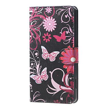 Voor LG hoesje Hoesje cover Portemonnee Kaarthouder met standaard Flip Volledige behuizing hoesje Vlinder Hard PU-leer voor LG LG Nexus 5X