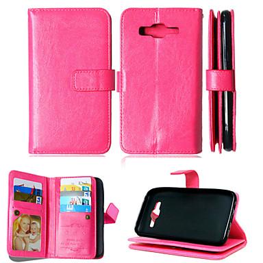 Para Samsung Galaxy Capinhas Porta-Cartão / Carteira / Com Suporte / Flip Capinha Corpo Inteiro Capinha Cor Única Couro PU SamsungJ5 / J1