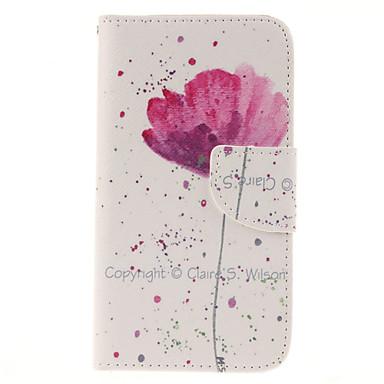 Para Samsung Galaxy Capinhas Porta-Cartão / Carteira / Com Suporte / Flip Capinha Corpo Inteiro Capinha Flor Couro PU SamsungS6 edge / S6