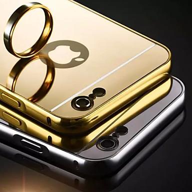 hoesje Voor Apple iPhone 5 hoesje iPhone 6 iPhone 6 Plus iPhone 7 Plus iPhone 7 Beplating Spiegel Achterkant Effen Kleur Hard Acryl voor