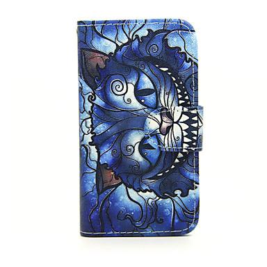 Capinha Para Nokia Capinha Nokia Carteira Porta-Cartão Com Suporte Corpo Inteiro Gato Rígida Couro Ecológico para Nokia Lumia 630