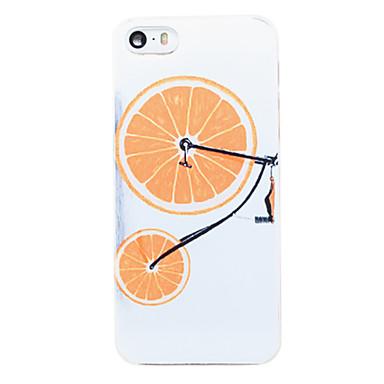 Para Capinha iPhone 5 Estampada Capinha Capa Traseira Capinha Fruta Rígida PC iPhone SE/5s/5