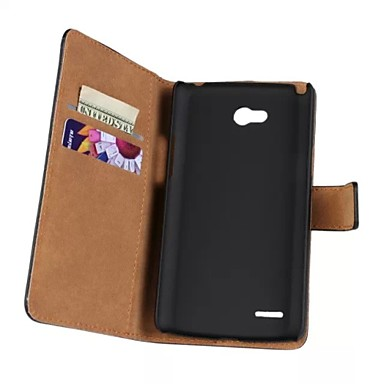 Voor LG hoesje Kaarthouder / Portemonnee / met standaard / Flip hoesje Volledige behuizing hoesje Effen kleur Hard PU-leer LG L80