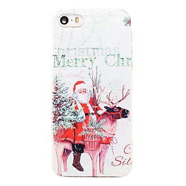 Voor iPhone 5 hoesje Transparant hoesje Achterkantje hoesje Kerstmis Hard PC iPhone SE/5s/5