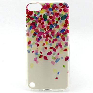 capa flexível do tpu do teste padrão da pintura da flor para ipod touch 5 capas / capas de ipod