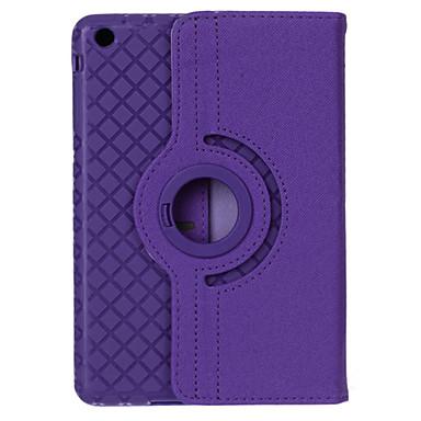 360 graden draaibare rasterpatroon pu leer + TPU geval w / stand voor iPad 4/3/2