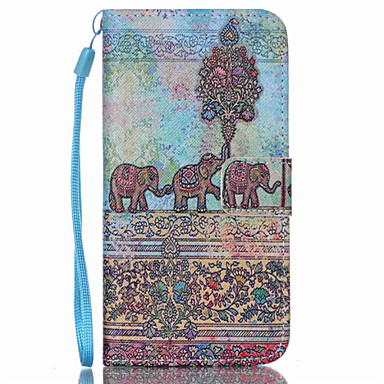 Για Samsung Galaxy Θήκη Θήκη καρτών / Πορτοφόλι / με βάση στήριξης / Ανοιγόμενη tok Πλήρης κάλυψη tok Ελέφαντας Συνθετικό δέρμα SamsungS6