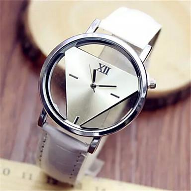 Women's Quartz Wrist Watch Casual Watch PU Band Elegant Fashion Black White Blue Red
