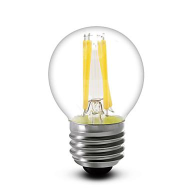 4W E14 E12 E26/E27 Lâmpadas de Filamento de LED G45 4 leds COB Regulável Branco Quente 380lm 2700K AC 220-240 AC 110-130V