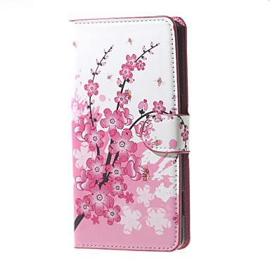 Voor Huawei hoesje Hoesje cover Portemonnee Kaarthouder met standaard Flip Volledige behuizing hoesje Boom Hard PU-leer voor Huawei