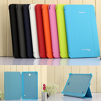 Case For Samsung Galaxy Samsung Galaxy Case with Stand / Auto Sleep / Wake / Flip Full Body Cases Solid Colored PU Leather for Tab 4 7.0 / Tab 3 7.0 / Tab 3 Lite