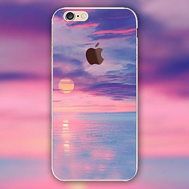 landschap wolken patroon TPU materiaal telefoon Case voor iPhone 6 plus / 6s plus