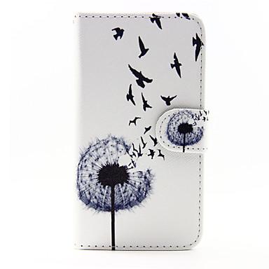 Para Samsung Galaxy Capinhas Porta-Cartão / Com Suporte / Flip / Magnética / Estampada Capinha Corpo Inteiro Capinha Dente de LeãoCouro