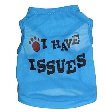 חתול כלב טי שירט בגדים לכלבים פרחוני  בוטני ורד כחול ורוד טרילן תחפושות עבור חיות מחמד בגדי ריקוד גברים בגדי ריקוד נשים אופנתי