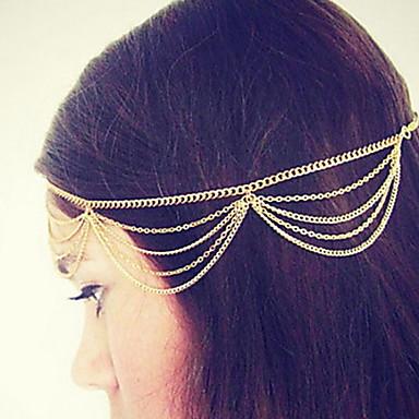 Bruiloft / Feest / Dagelijks / Causaal / Sport / n.v.t. - Haarbanden (Legering , Gouden / Zilver)